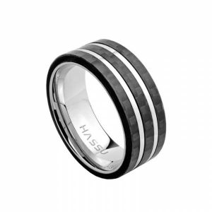 Aliança HASSU em aço e carbono- 7mm