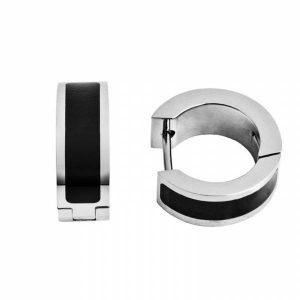 Brincos HASSU em Aço e Carbono Prateado – 10mm