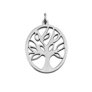 Pendente HASSU em aço oval – Árvore da Vida