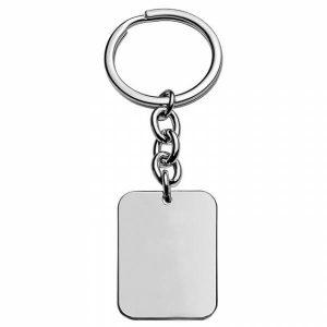Porta chaves HASSU em aço - chapa retangular - Prateado