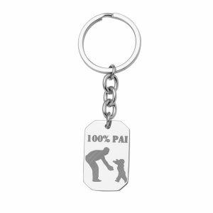 Porta chaves HASSU em aço - Pai – Prateado